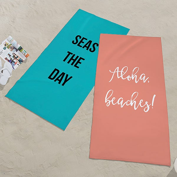Expressions Personalized 30x60 Beach Towel
