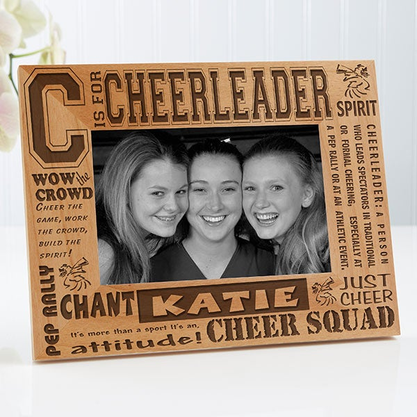 Personalized Cheerleader Picture Frame - 4x6 Photo - 2425
