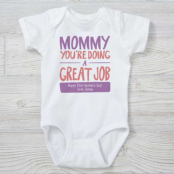 Custom Baby Bodysuit I Love Mummy This Much Mom Mothers Day Boy /& Girl Clothes
