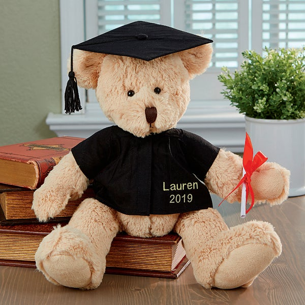 Personalized Bear with Graduation Gown and Cap - 2458