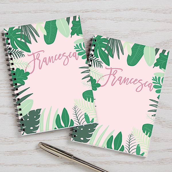 Palm Leaves Personalized Journals Set Of 2