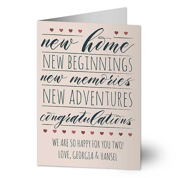 new start house warming new home card New beginnings card
