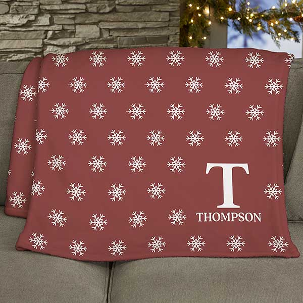 Christmas Blankets.Holiday Icon Personalized 50x60 Fleece Blanket