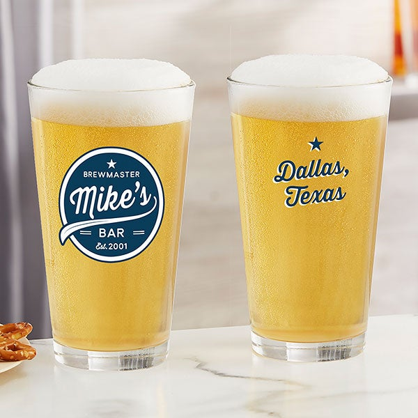 Brewing Co Personalized 16oz Printed Pint Glass