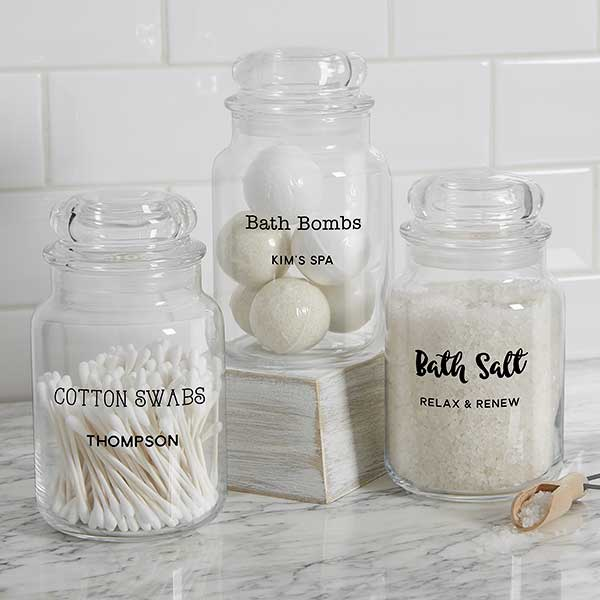 Text Personalized Gl Storage Jars
