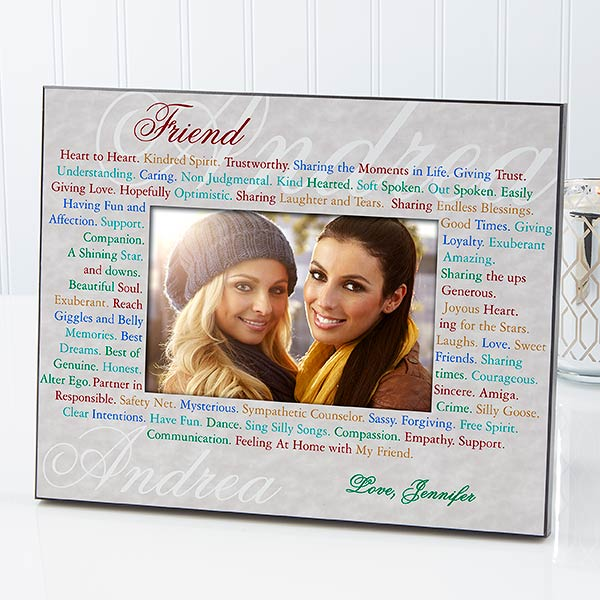 Personalized Friends Photo Frame - Expressions of Friendship - 2559