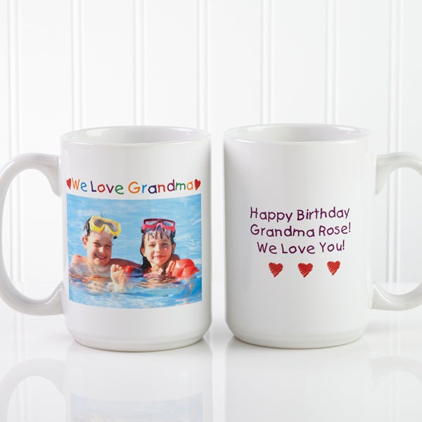 Large Personalized Photo Coffee Mugs Loving Her Design For Her