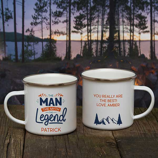 Personalized Camping Mugs The Man The Myth The Legend