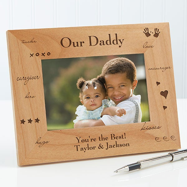 Personalized Wood Photo Frame - Daddy Design - 2580