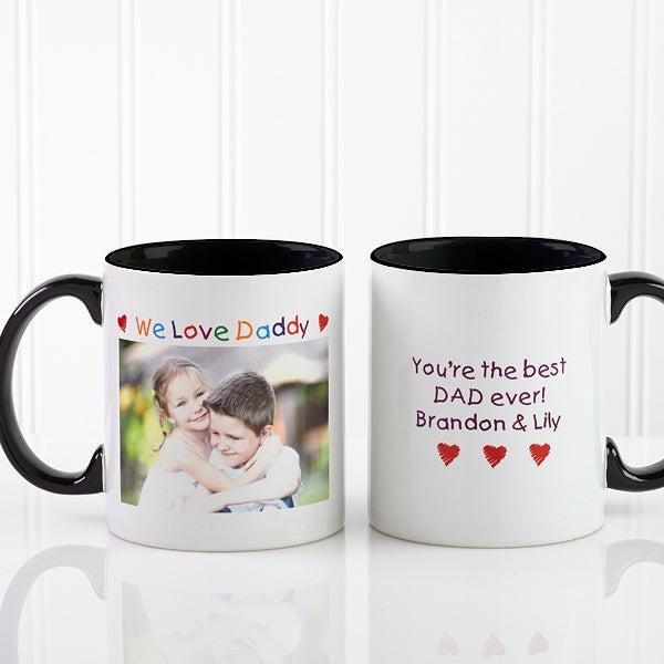 Personalized Photo Message Coffee Mugs - Loving Him Design - 2584