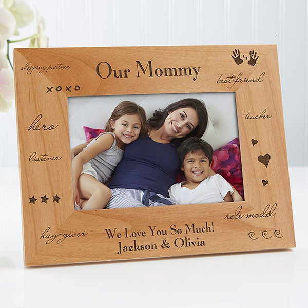 Engraved Wood Custom Picture Frame What You Mean To Me