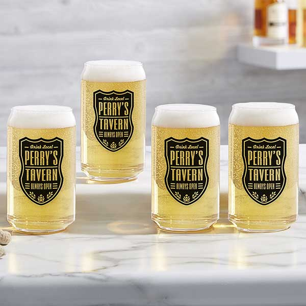 Custom Cocktail Glasses Personalized Printed Drinkware Custom Printed Pilsner Glasses Personalized Printed Beer Glasses