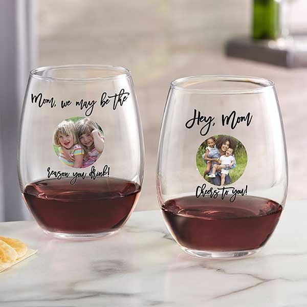 Personalization Mall - Custom Wine Glasses