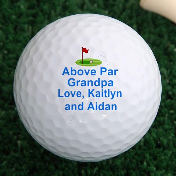Personalized Golf Ball Set - Above Par Design  - 2644