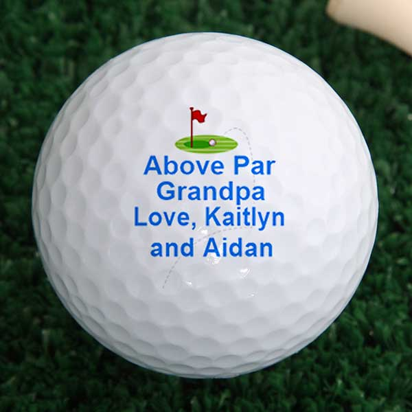 Personalized Golf Balls Above Par Sport Leisure Gifts