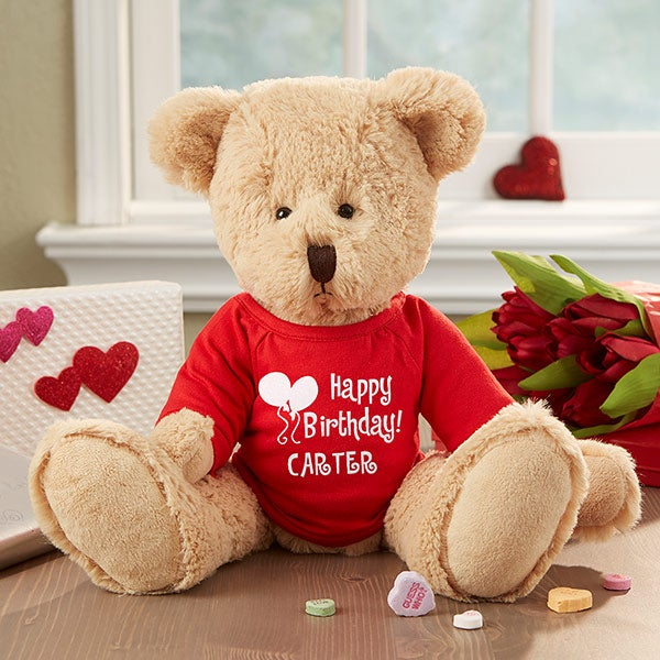 Personalized Birthday Stuffed Teddy Bear - Ty Happy Birthday Bear - 2654