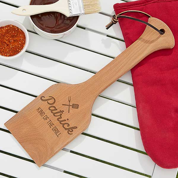 BBQ Wooden Grill Scraper Custom Engraved