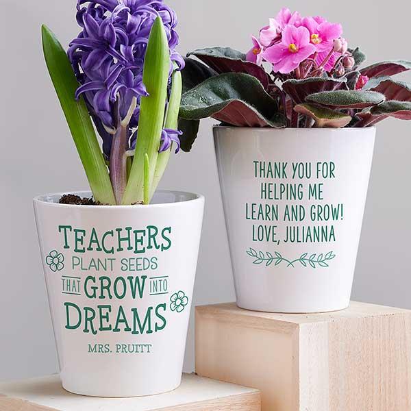 Personalized Plant Pot Cactus Plant Pot Our Love Grows
