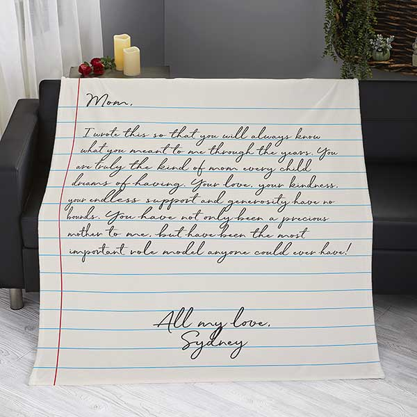 Letter To Mom Personalized Blankets For Mom - 26699