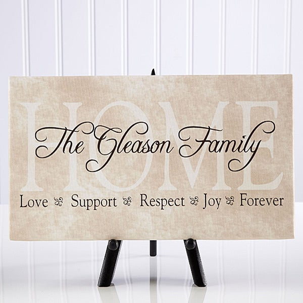Family Name Personalized Canvas Art Sentiments Of The Home