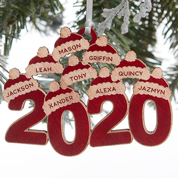 Christmas Ornaments 2020 2020 Personalized Red Maple Wood Ornament   Christmas Corner