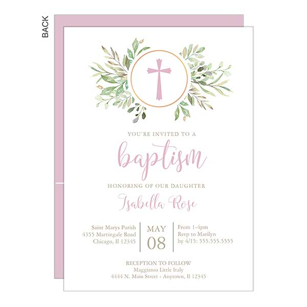 Girl Baptism Party Invitation