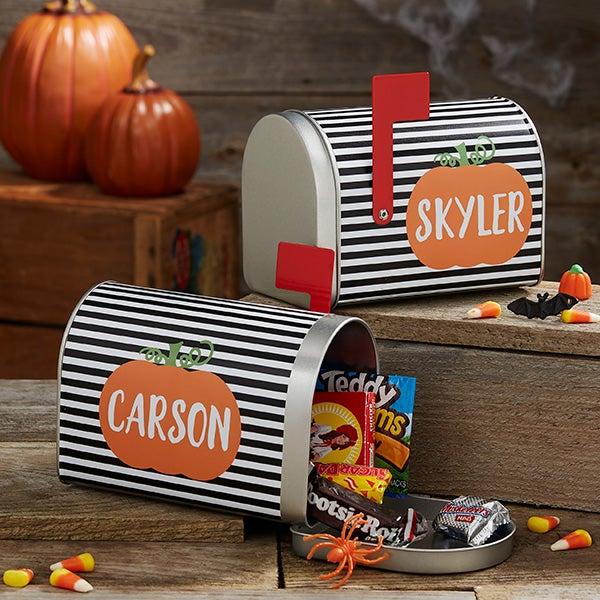 Striped Pumpkin Personalized Halloween Treat Mailbox! .99 (REG .99) at Personalization Mall!