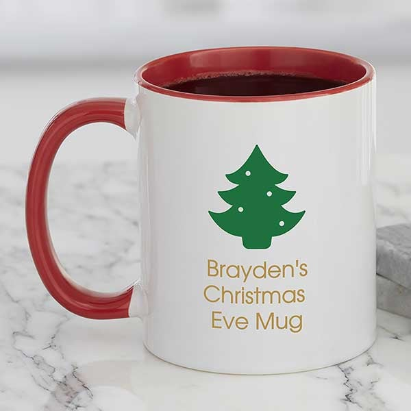Christmas Icon Personalized Coffee Mug 11 Oz Red Christmas Corner