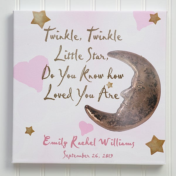 Personalized Baby Wall Art - Twinkle, Twinkle - 2742