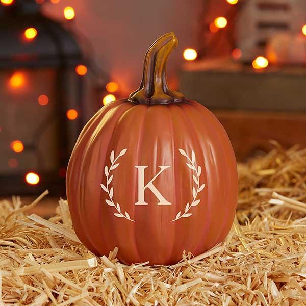 Laurel Initial Personalized Monogram Pumpkins