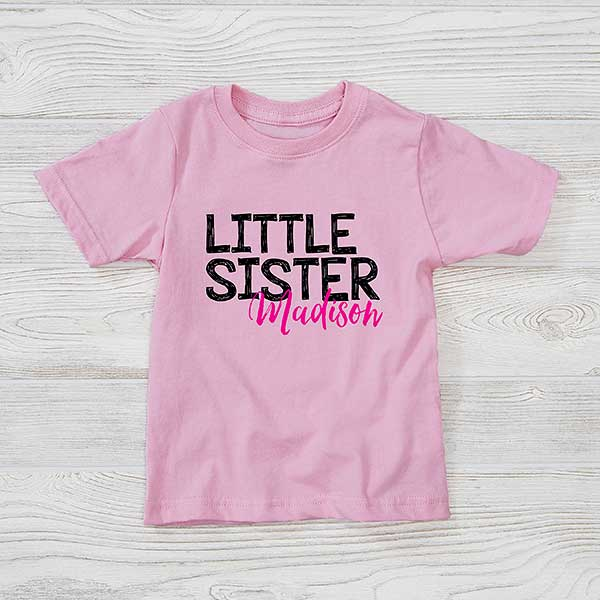 Custom Big Sister Little Sister bodysuit Little Sister Big Sister shirt personalized baby outfit