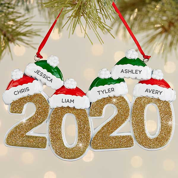 2020 family personalized ornament 6 name christmas corner personalization mall