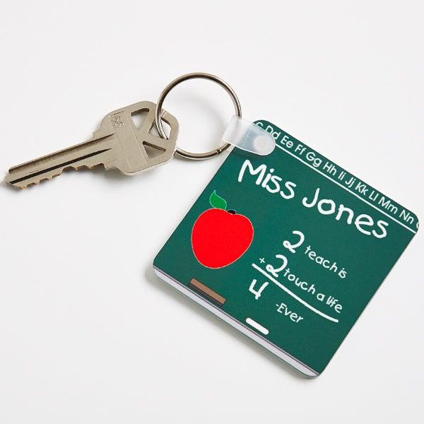 Personalized Teacher Chalkboard Keychain - 2810