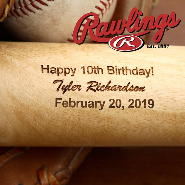 Personalized Birthday Wooden Baseball Bat - 2888