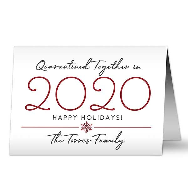 quarantined together in 2020 personalized christmas cards quarantined together in 2020 christmas card