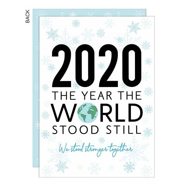 The Year the World Stood Still Christmas Photo Card   3 Photo