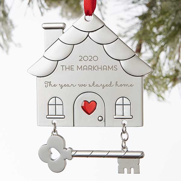 Quarantined Together Personalized House Ornament