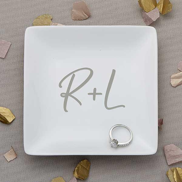 Personalized Ring Dish \u2022 Wedding \u2022 Initial \u2022 Monogram