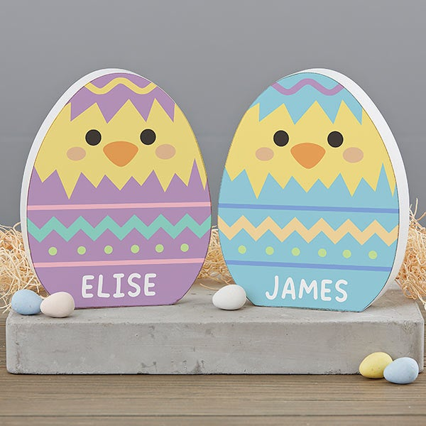 Jetec 3 Pieces Easter Table Decoration Centerpieces Bunny Egg Wooden Decorations Spring Bunny Happy Easter Welcome Egg Hunt Centerpiece for Easter Dinner Party Home Table Decor Party Favors