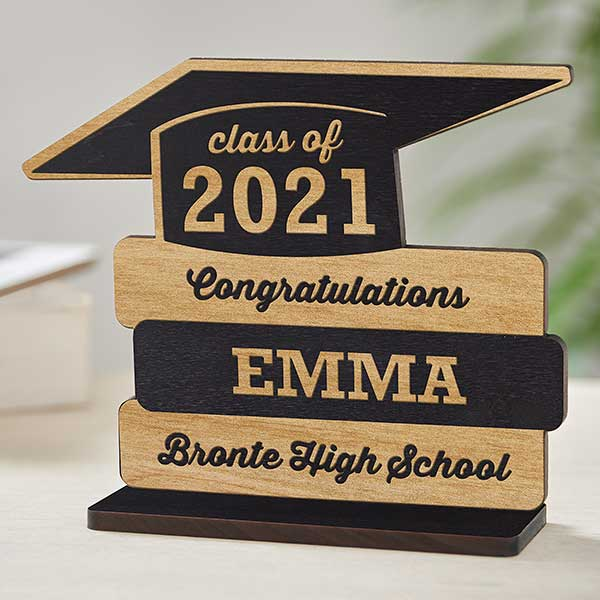 Personalized Birthday Gifts for Her Graduation Gift Wood Keychain