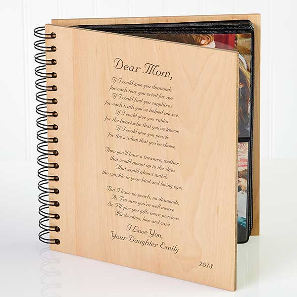 Personalized Wood Photo Album - Mother Poem  - 3144