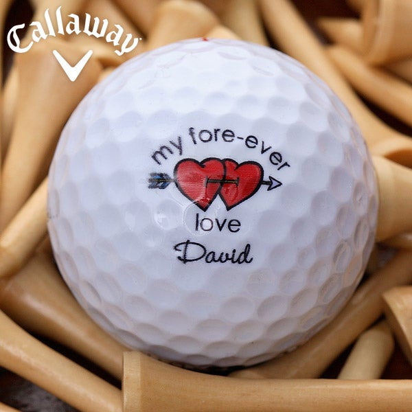 Personalized Golf Ball Set - Valentine's Day Designs - 3454