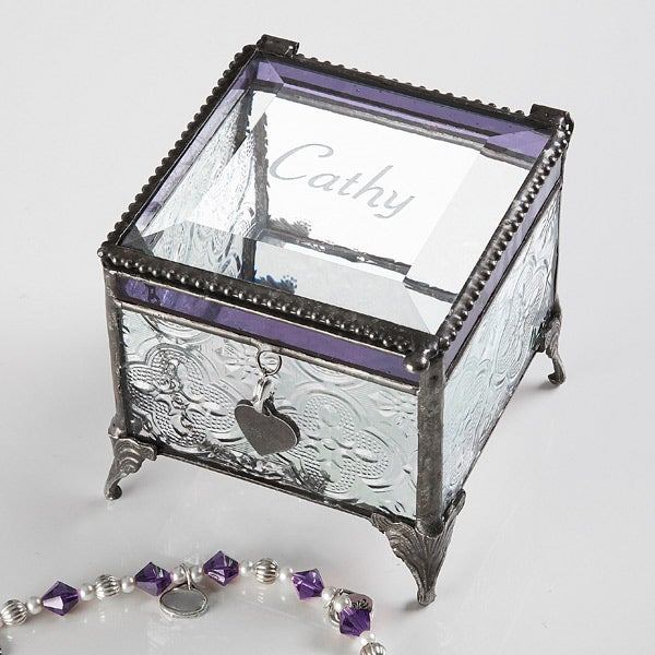 3518 vintage name personalized jewelry box for Jewelry box with initials