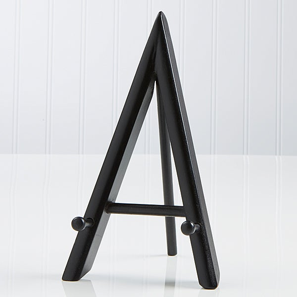 Black A-Frame Wood Display Easel - 3729