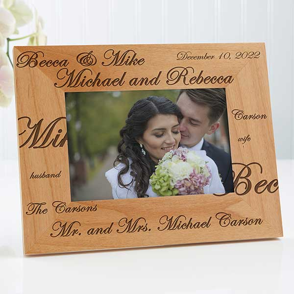 Personalized Wedding Picture Frames Mr And Mrs Collection 4x6 Wedding Gifts