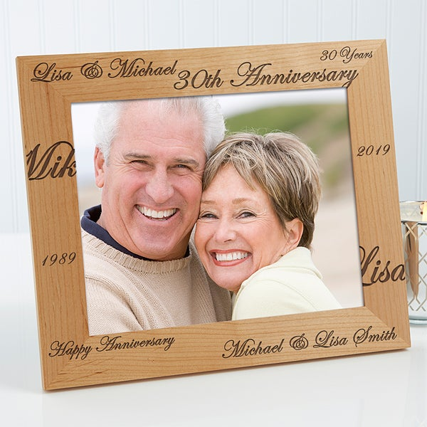 Engraved Wood 8x10 Anniversary Picture Frame Forever Always