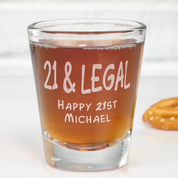 Personalized Shot Glass For Number One Dad - 3904