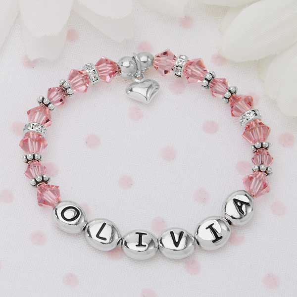 b008c895c0bd2 Baby's First Personalized Birthstone Bracelet