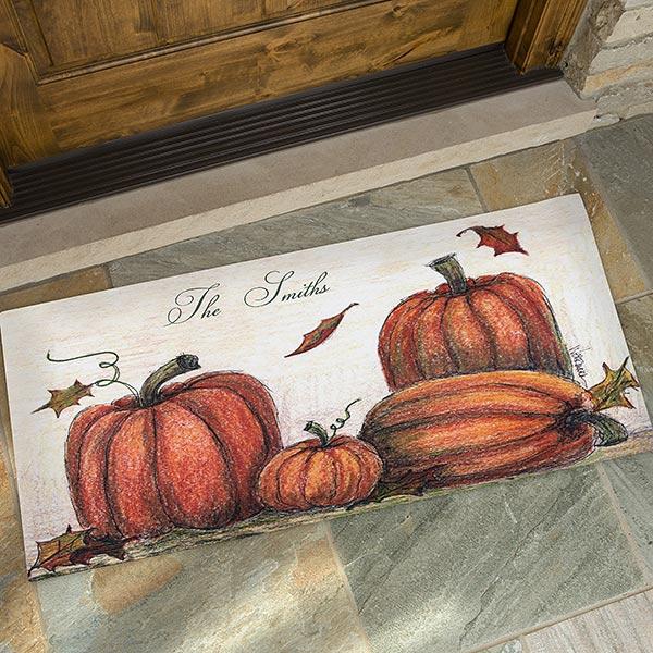 Personalized Autumn Pumpkin Welcome Door Mats - 4190