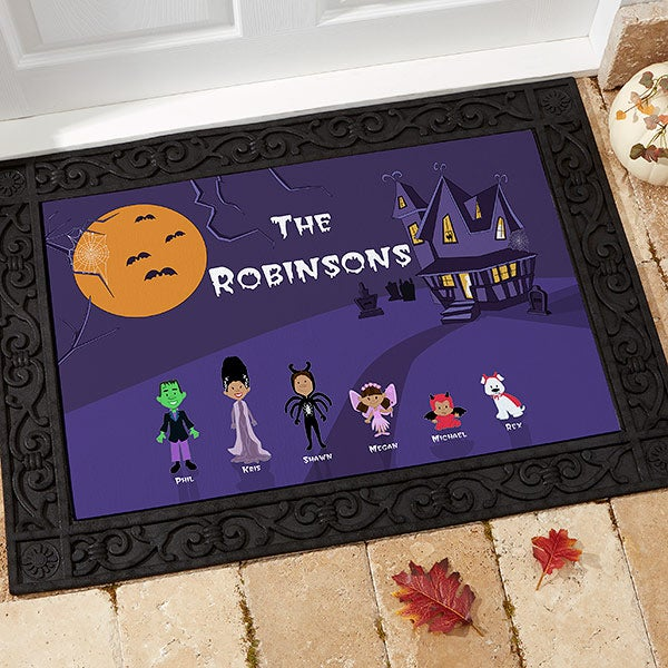 Decorating Ideas # 4204  Halloween Character Collection Personalized Doormat